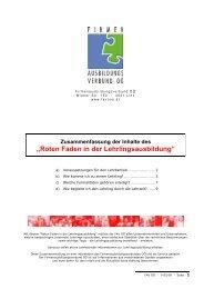 Voraussetzungen für den Lehrbetrieb - FAV OÖ