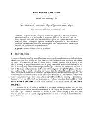Hindi Stemmer @FIRE-2013 - Indian Statistical Institute