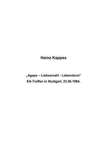 T-0191 - Agape Liebesmahl Lebensbrot - Heinz Kappes