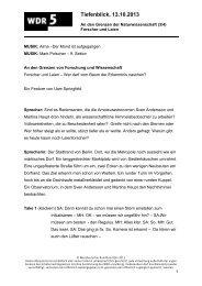 131013_An den Grenzen der Naturwissenschaft 3 - WDR 5