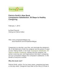 50 Steps to Healthy Caregiving - Compassion Fatigue Awareness ...