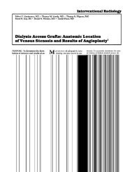 Dialysis Access Grafts: Anatomic Location - Vascular Access Doc