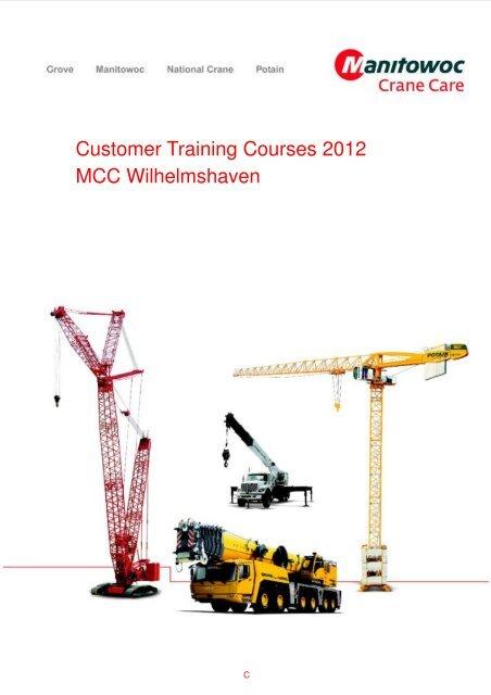2012 Germany Training Schedule - Manitowoc Cranes
