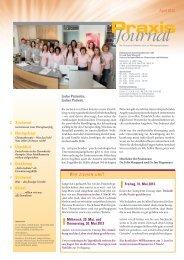 Ausgabe 14 / 2013 - Onkologische Schwerpunktpraxis Celle
