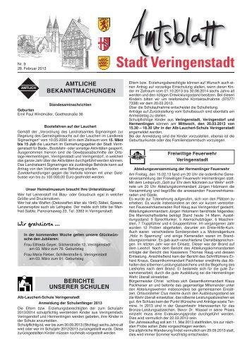 Amtsblatt KW 9 - Veringenstadt