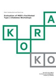 Evaluation of MSD's Facilitated Type 2 Diabetes Workshops - KORA