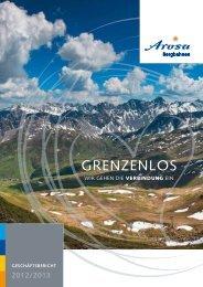 Arosa Bergbahnen Geschäftsbericht 2012/2013