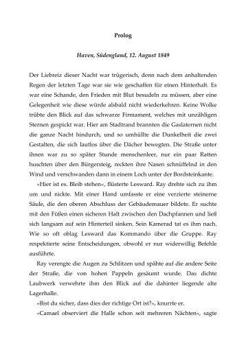 Prolog Haven, Südengland, 12. August 1849 Der Liebreiz dieser ...