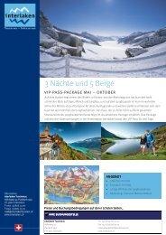 3 Nächte und 5 Berge Pauschale PDF - Sommerpauschalen.com