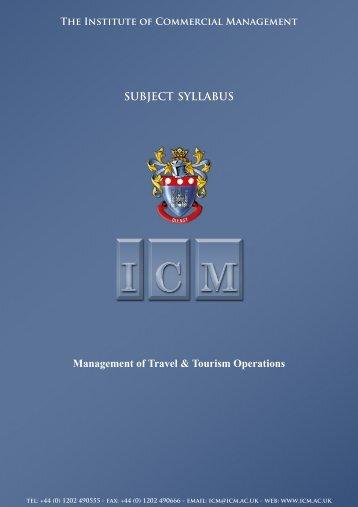 Management of Travel & Tourism Operations.pub - ICM