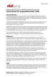 Detaljerade gränsvärden för tungmetaller i foder - Krav
