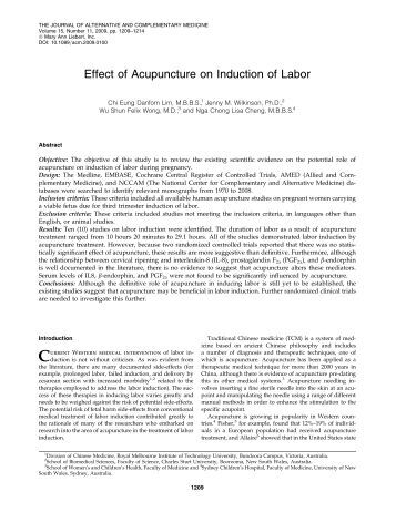 Acog guidelines for elective induction of labor