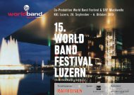 15. World Band Festival luzern 15. World Band Festival luzern