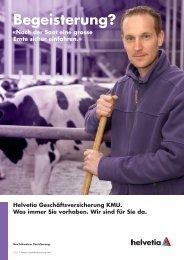 Broschüre Geschäftsversicherung KMU, Landwirtschaft
