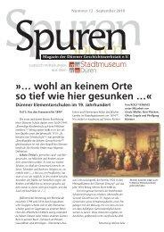 Spuren 12/2010 - Dürener Geschichtswerkstatt