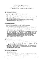 Vereinssatzung - gustav-adolf-schule