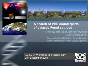 A search of VHE counterparts of galactic Fermi sources - AGILE