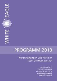 Jahresprogramm - White Eagle Stern-Zentrum Schweiz