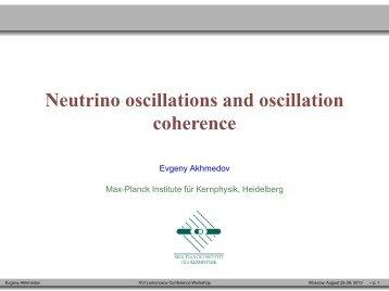 Neutrino oscillations and oscillation coherence