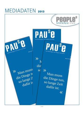 Mediadaten der Pause 2013 - Peoples Viennaline