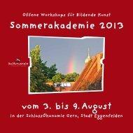 Informationsbroschüre Sommerakademie GERN - kunst-raum ...