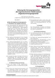 Satzung des Versorgungswerks - Versorgungswerk der ...