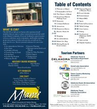 Table of Contents - Miami Convention & Visitors Bureau