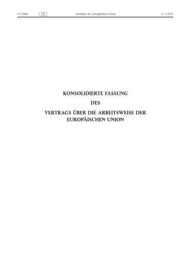 Vertrag über die Arbeitsweise der Europäischen Union - EUR-Lex ...