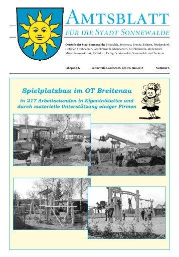 Amtsblatt Sonnewalde Juni 2013 S 13 ff.pdf - ostsee-24.de