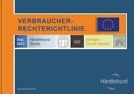 Studie zur Verbraucherrechterichtlinie - Händlerbund