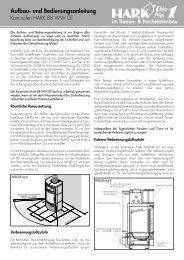 Ersatzteilliste Hark 88 WW GT - Kaminbau GmbH