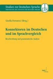 Konnektoren im Deutschen und im Sprachvergleich. Beschreibung ...