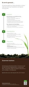 Flyer: Wir untersuchen Ihr Grundfutter - Bodengesundheitsdienst - Seite 2