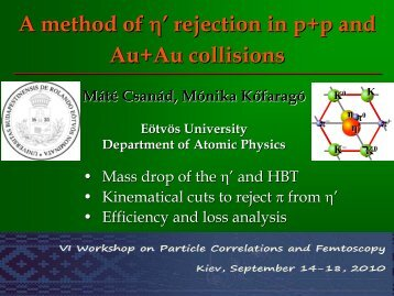 A method of eta' rejection in high-energy Au+Au and p+p collisions