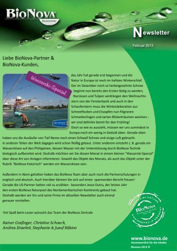 Newsletter Februar 2013 zum Download - BioNova