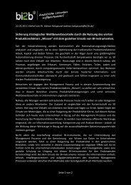 Sicherung strategischer Wettbewerbsvorteile durch die Nutzung des ...