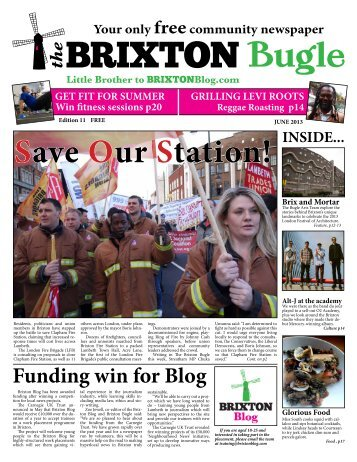 in the latest Brixton Bugle - Brixton Blog