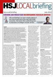 HSJ Local Briefing - Cheshire and Merseyside - July 2012