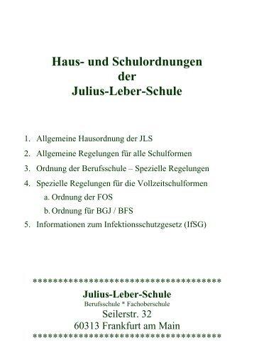 Haus- und Schulordnungen der Julius-Leber-Schule