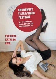 festival- Katalog 2011 - One Minute Festival