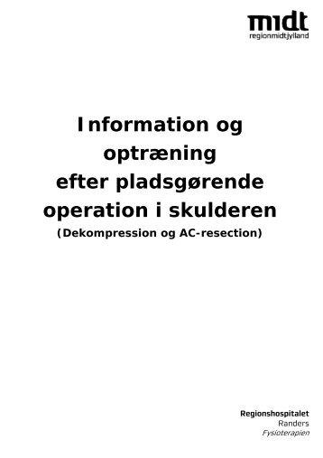 Information om dekompression af skulderen - Regionshospitalet ...