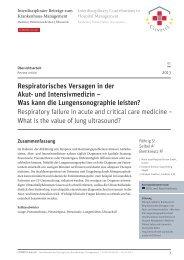 Respiratorisches Versagen in der Akut- und Intensivmedizin – Was ...