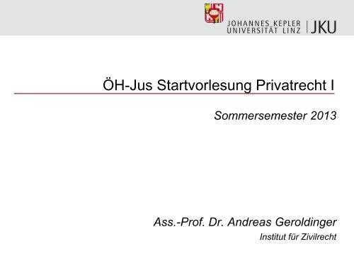 öh Jus Startvorlesung Privatrecht I Zivilrechtjkuat