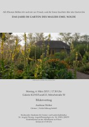 Einladung öffnen - Stralsunder Akademie für Garten- und ...