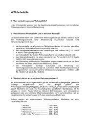 Informationsblatt Wohnbeihilfe