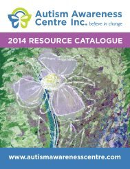 2014 RESOURCE CATALOGUE - Autism Awareness Centre
