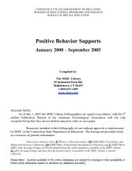 Positive Behavior Supports - The State Education Resource Center