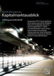 Kapitalmarktausblick September 2013 - Deutsche Bank - Private ...