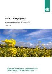 Støtte til energiafgrøder – Vejledning og blanketter for producenter