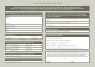 Booking Form - Chalet Floralie